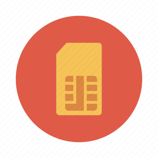 chip, device, gsm, mobile, phone, sim, simcard icon