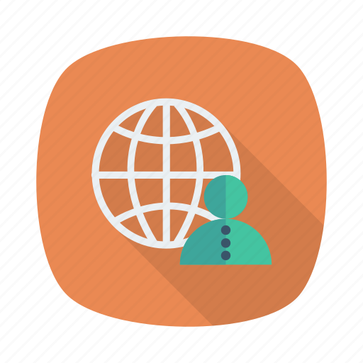 avatars, business, client, global, globe, network, user icon