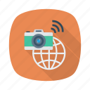 business, camera, global, international, link, photo, record icon
