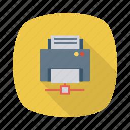 business, cloud, communication, connection, internet, printer, sahre icon