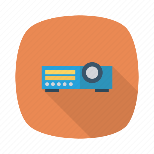 broadcast, cloud, device, devices, projector, technology, video icon