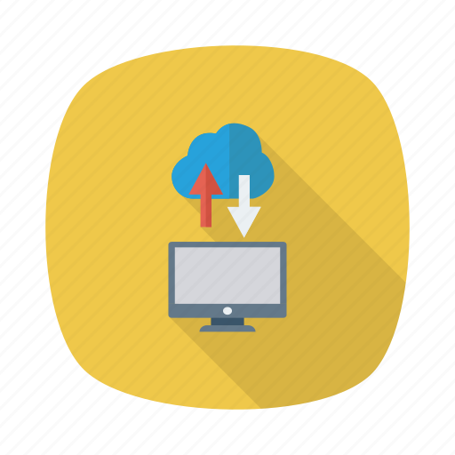 cloud, computing, connection, download, link, upload, weather icon