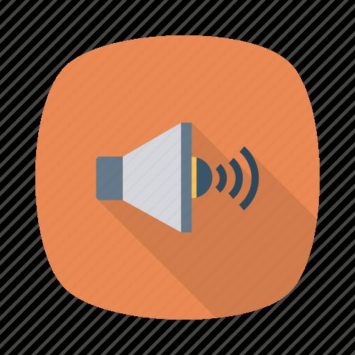 audio, device, loudspeaker, music, sound, speaker, volume icon