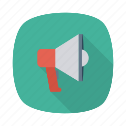 advertising, announcement, communication, horn, marketing, megaphone, promotion icon
