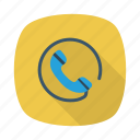 call, calling, mobile, phone, smartphone, social, telephone icon