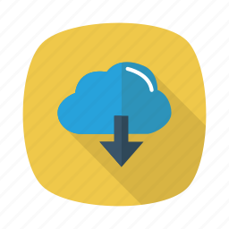 cloud, computing, devices, download, server, storage, weather icon