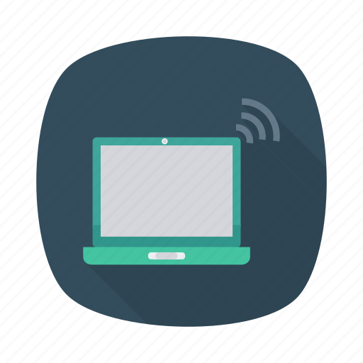 computer, device, laptop, multimedia, notebook, pc, signal icon