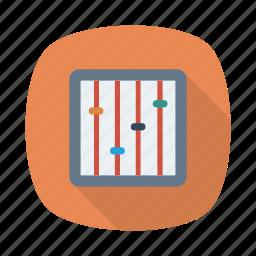 control, menu, options, panel, player, preferences, settings icon