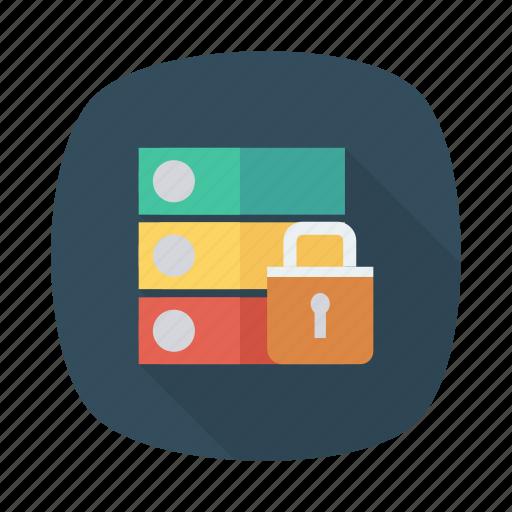 database, hosting, network, protection, security, server, storage icon
