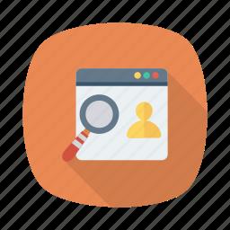 client, design, online, profle, search, user, web icon