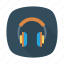 audio, earphone, headphone, multimedia, music, service, support icon