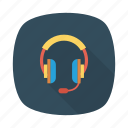 audio, earphone, headphone, headset, multimedia, music icon