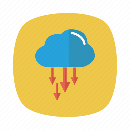cloud, computing, connection, database, download, storage, weather icon
