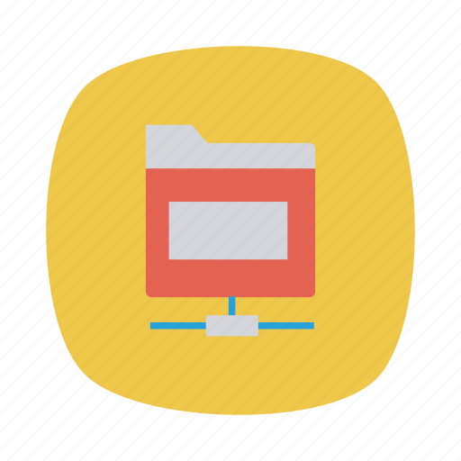 category, connect, files, folder, shared, sharing, storage icon
