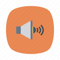 audio, device, loudspeaker, music, sound, speaker, volume icon