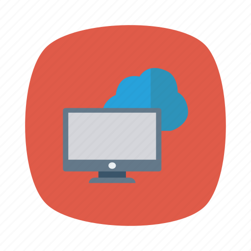 cloud, monitor, online, pc, server, store, website icon