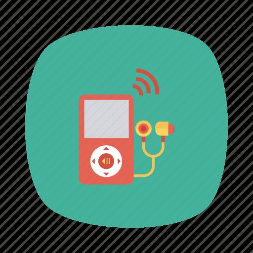 device, multimedia, music, musicplayer, player, sound, technology icon