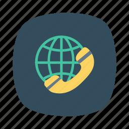 business, call, global, international, phone, technology, telephone icon