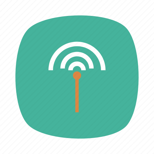 antenna, connection, danger, internet, network, signal, wireless icon