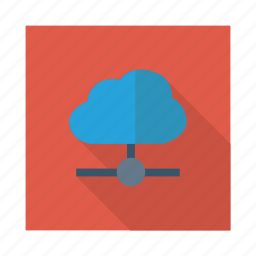 cloud, connectivity, link, shared, storage, sync, weather icon