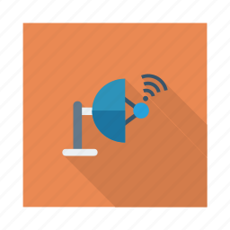 communication, media, network, satellite, science, signal, wireless icon
