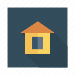 building, estate, home, house, location, property, real icon