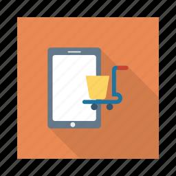cart, commerce, marketing, mobile, phone, smartphone, telephone icon