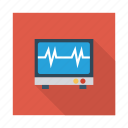 dashboard, display, health, heart, monitor, online, screen icon