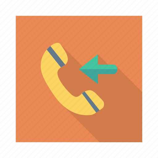 answer, arrow, call, incoming, received, receiver, telephone icon