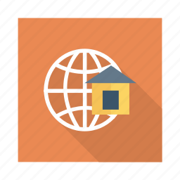 browse, business, global, home, link, network, world icon