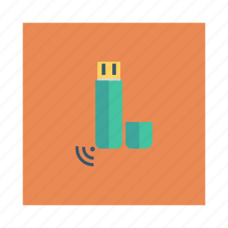 connector, device, disk, drive, flash, technology, usb icon
