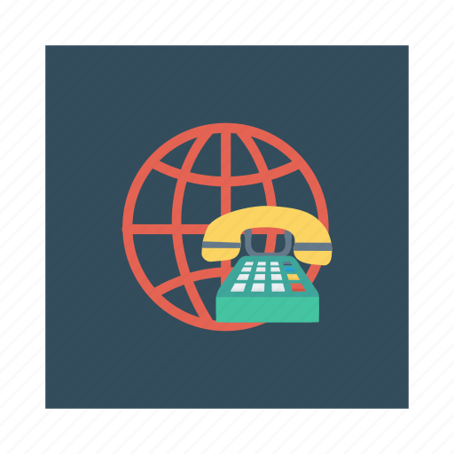 business, device, global, phonecall, support, telephone, work icon