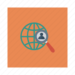 business, businessman, find, global, person, user, work icon