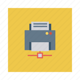 business, cloud, communication, connection, internet, printer, sahre icon