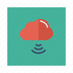 cloud, computing, link, network, server, signal, weather icon