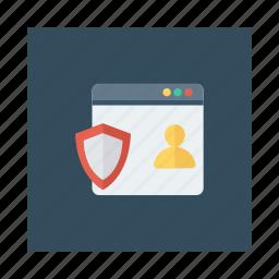 design, development, responsive, safety, security, shield, web icon