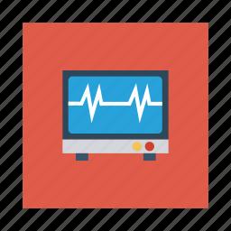 dashboard, display, health, heart, monitor, online, screen icon