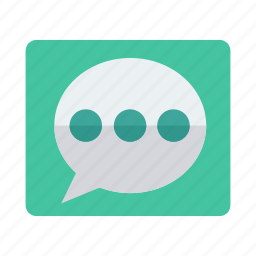 bubble, chat, comment, double, message, talk, thinking icon