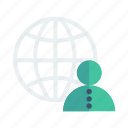 network, business, globe, global, avatars, client, user icon