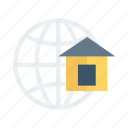 network, business, browse, global, link, home, world icon