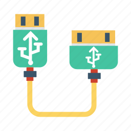 cable, data, device, electric, stick, technology, usb icon