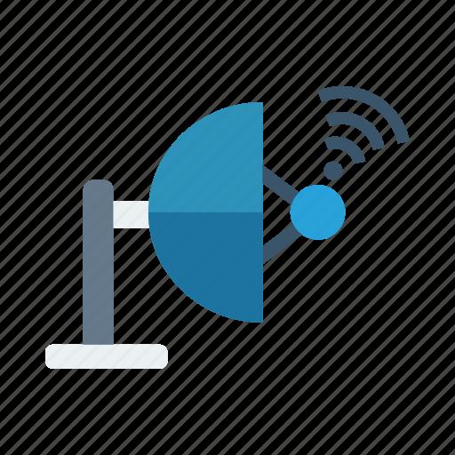 communication, media, network, satellite, science, signal, wireless icon
