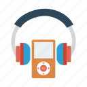audio, earphone, headphone, headset, multimedia, music, service icon