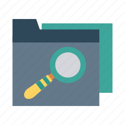 category, checked, document, folder, magnify, search, storage icon