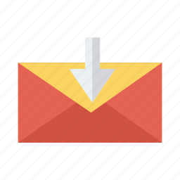 download, email, inbox, incoming, mail, postal, receive icon