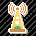 antenna, danger, internet, network, signal, warning, wireless