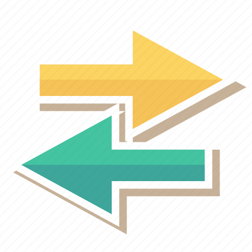 arrows, direction, left, right, rotate, sync, update icon