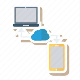 cloud, computer, connect, database, link, mobile, weather icon