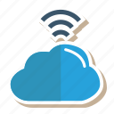 cloud, link, server, signals, storage, weather, wifi icon