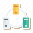 computer, database, hosting, network, pc, server, storage icon